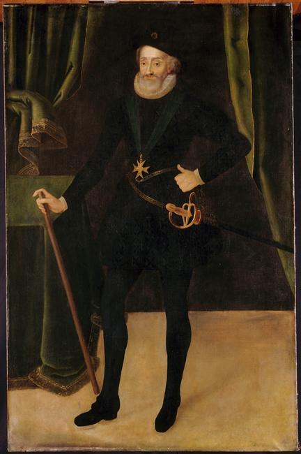 Tableau d'époque de Henri IV et l'édit de Nantes