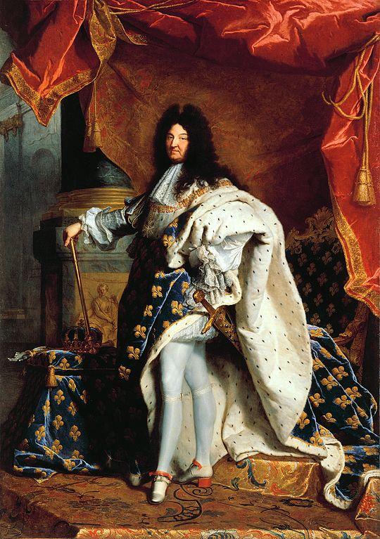 Tableau d'époque de Louis XIV le roi Soleil