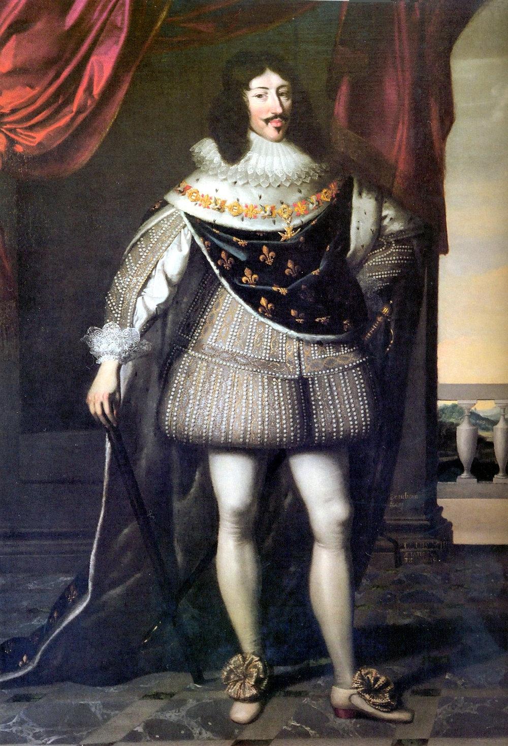 Tableau d'époque de Louis XIII et la généalogie des Rois