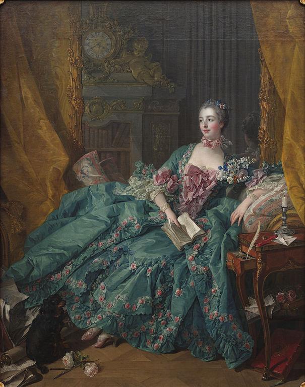 Tableau d'époque de Madame de Pompadour et le siècle des Lumières