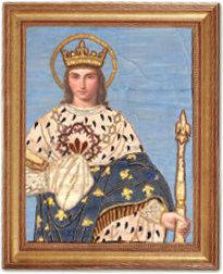 Tableau d'époque de Saint Louis le roi chrétien